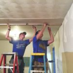 Scout Collin Finn repairs rooms for New Boston First Church of the Nazarene