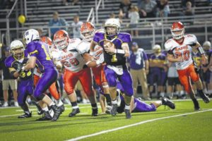 Streeter scores four TD's, Indians roll