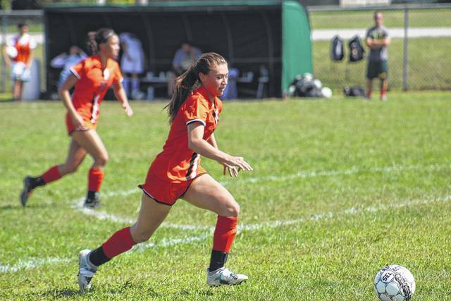 Wheelersburg's Chelsee Steele looks to score in the game against Greenup on Saturday afternoon.