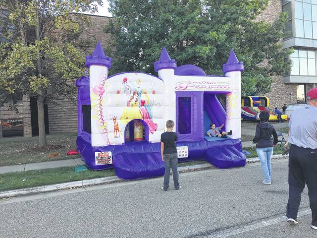 Several different inflatables were available for children to play on.