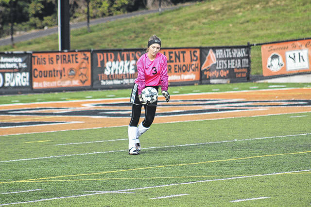 Morgan Bivens had another big game in the net for Wheelersburg as a keeper.