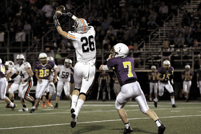 West's Cody Staggs makes a catch last week against Valley.