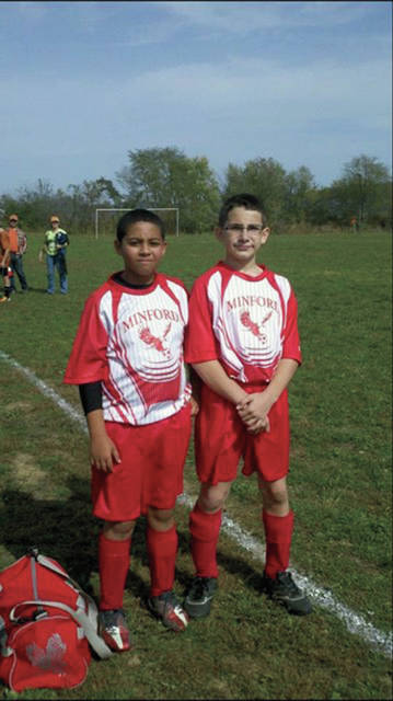 Elijah Craft and Jacob Smith together in seventh grade