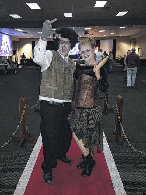 Sean Frazier and Kellie Bell dressed as characters from Sweeney Todd. Bell took first place in the costume contest.