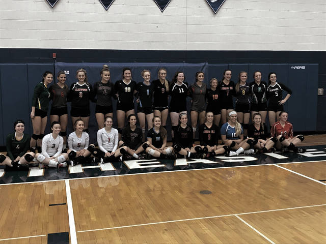 Notre Dame's Ali Smith and Lexi Smith, Portsmouth's Allison Douthat and Aiden Fields, New Boston's Ali Hamilton, and Wheelersburg's Ellie Ruby all participated in the District 14 Volleyball All-Star Game, which was held at Chillicothe Southeastern High School.