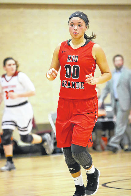 Former Wheelersburg girls basketball standout Sydney Holden was named as the River States Conference's Player of the Week on Tuesday afternoon. Holden, a 5-9 sophomore guard who plays at Rio Grande, averaged 14.5 points, five rebounds, 3.5 assists, and 2.5 steals per game in victories over Washington Adventist and Georgetown (Ky.) this past week.