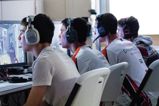 Gamers participate in a tournament at The Complex.