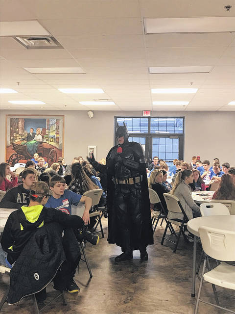 This year's summit speaker was John Buckland from Huntington, W. Va., better known as Batman, who shared some of his difficult past with the youth.