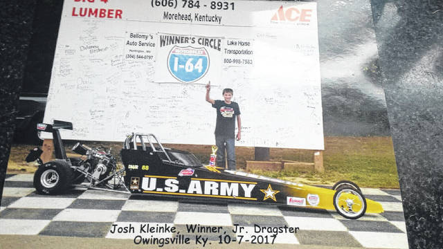 Otway native Josh Kleinke is already building a sterling reputation as a strong drag racer, winning three out the 12 feature events that he competed in during the 2017 season.