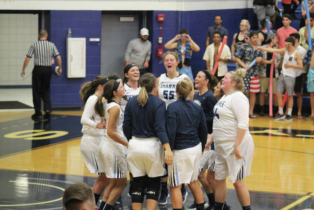 Shawnee State players get ready before their contest against Lindsey Wilson (Ky.)