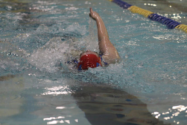 Northwest's Mikayla McGuire during the 100 meter backstroke.