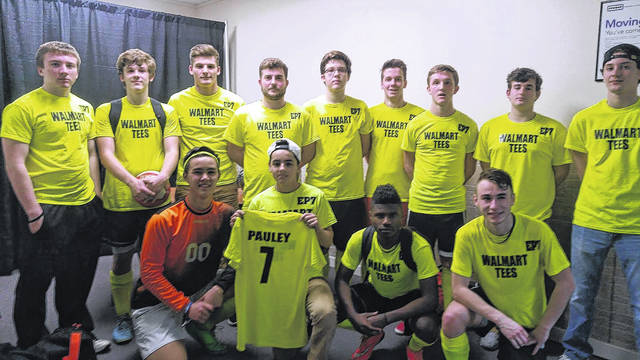 The Walmart Tees honor Ethan Pauley with the EP7 label on their uniforms back in 2016. Ethan started the team, which has competed in futsal tournaments around the region.