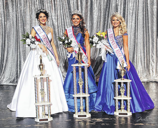 2017 River Days Queen and court - 1st runner-up Portsmouth's Katie Fannin, Queen - Valley's Kennedy McGraw, and 2nd runner-up West's Jade Ratliff.