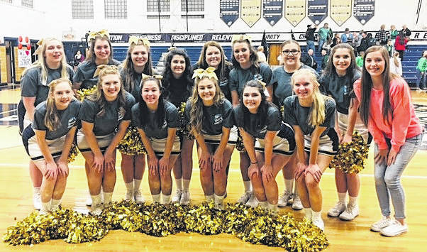Pictured are the NDHS cheerleaders at the T1D charity game
