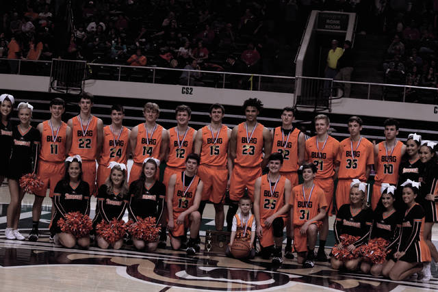 The 2017-18 Wheelersburg Pirates after winning the Division III, Athens I District Championship.
