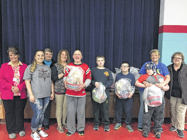 Wendy Williams, Kirstin Smith, Linda Davis, Debbie Stevens (Great Outdoors life group leader), George, Conner, Gavin, Trenton with his aide Jodi, and Lisa Madden.