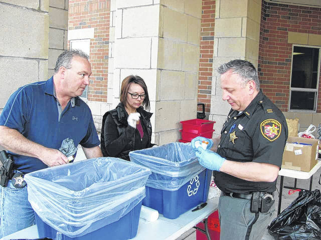 Scioto County's annual Drug Take Back event Friday resulted in 90 pounds of pills and liquid medication.