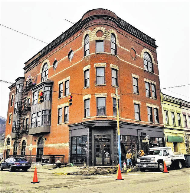 The historic and iconic building at Second and Court streets.