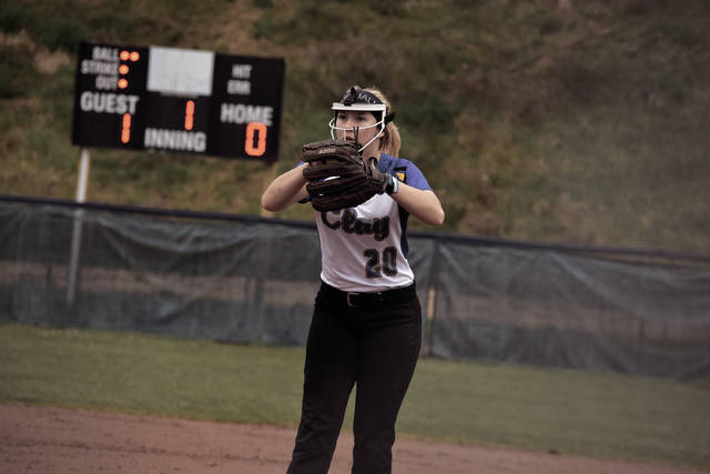 Clay's Julia Swain threw a no-hitter against Green on Wednesday evening. Swain moved to 8-1 in the circle for the 2018 season with the win.