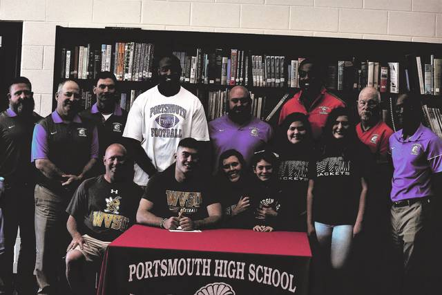 Portsmouth's Isaac Kelly signed a letter of intent to play college football at West Virginia State University, which plays in the Mountain East Conference at the NCAA Division II realm, on Friday afternoon at Portsmouth High School.