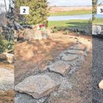 Making stepping stone paths professionally