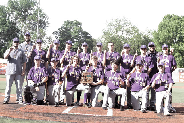 The 2018 Valley Indians with their Division III, Chillicothe II District Championship trophy.