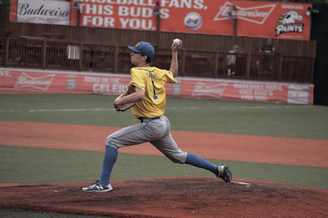 Clay's Reece Whitley throws a pitch on Wednesday evening.