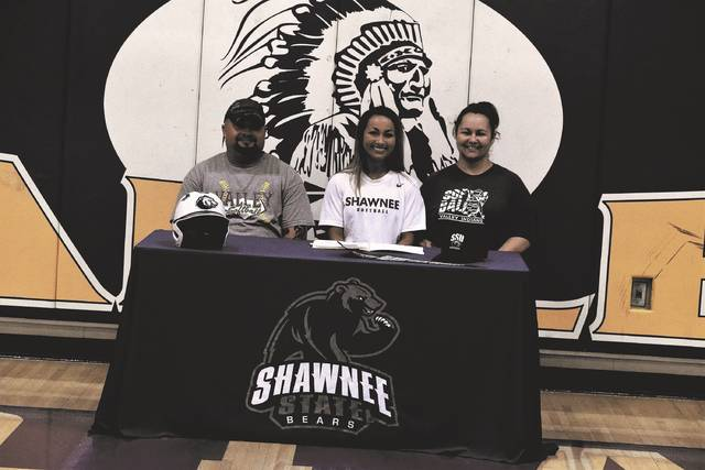 Valley's Margaret Caldwell signed with Shawnee State University on Thursday afternoon along with fellow teammate Faith Brown in a signing ceremony held at Valley High School.