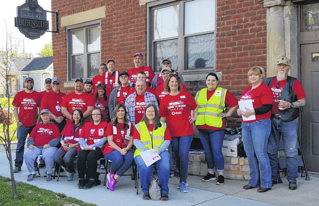 Volunteers who installed smoke alarms for the local Red Cross.