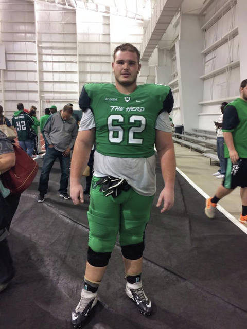 Former Minford standout Cain Madden, who graduated from MHS in 2014, earned a football scholarship following the end of spring practice. Madden, a redshirt junior, could factor into the offensive or defensive line rotations at Marshall going forward.