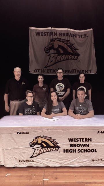 Western Brown's Emily Cooper signed with the Shawnee State University volleyball program, as announced on Tuesday afternoon by the athletic department.
