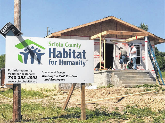 Scioto County Habitat for Humanity began work in April on this new home on Longview in West Portsmouth. The organization plans to build a second home on an adjacent lot.