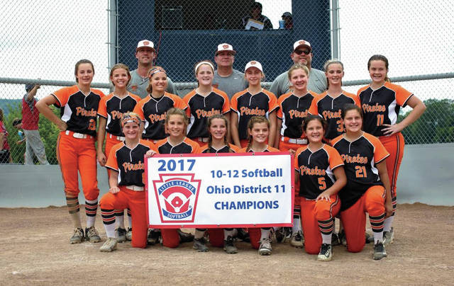 The 2017 Wheelersburg 11-12 year olds after winning the Ohio District 11 Championship at Boone Coleman Field inside Doc Singleton Park. This year's 11-12 year old group will look to match last year's unit — which won a state championship and advanced to Midwest Regional competition — at the same facility beginning on Saturday.