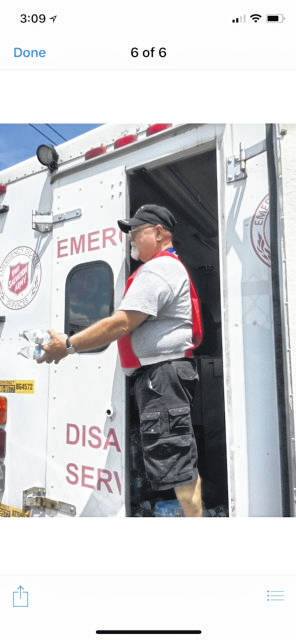During the recent water crisis Salvation Army volunteers could be found roaming the streets in effected areas handing out free bottled water.