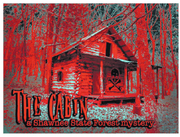 """Screenshot advertising """"The Cabin in the Woods,"""" the first escape room planned by Deadbolt: Boneyfiddle Escape Rooms and Mysteries."""