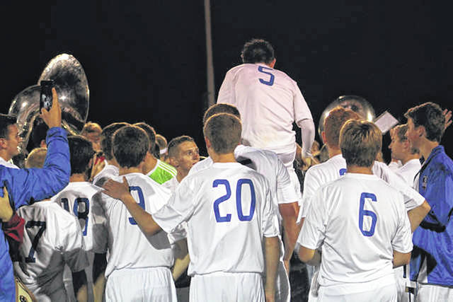 The Northwest Mohawks as they celebrate last year's SOC title.