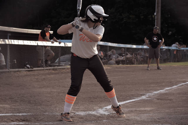 West's Kaylor Pickelsimer stands in at the plate.