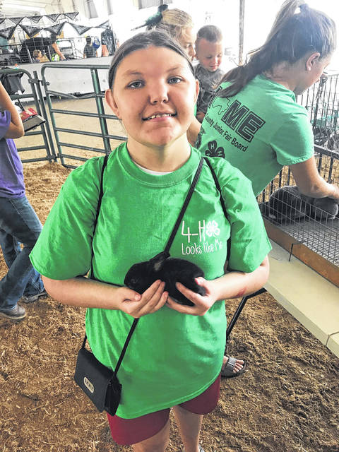 Show participant Beth Grate and the rabbit Midnight she featured during the show.