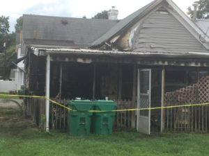 State fire marshsall investigating arson fire in Portsmouth Monday, reward offered
