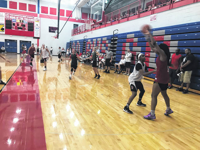 Players from area schools competed together in front of college coaches.