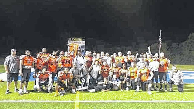 The 2018 Blue Collar Football League Eastern conference champion West Portsmouth Tanks.