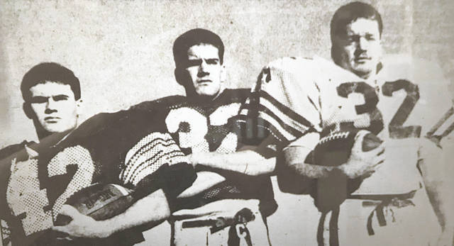 (From left) Rob Maynard, Dusty Salyers, and Shane Salyers led the Bobcats offensive attack the last time Green started off their season 3-0 in 1990.