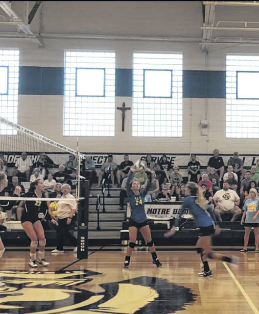 The Clay Panthers swept the Notre Dame Titans in an SOC I conference match Tuesday evening, 3-0.